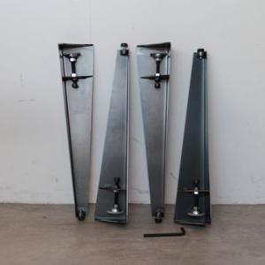 DIY FACTORY テーブル用アイアン脚 クランプタイプ 黒 脚の長さ410mm LR40-001 4本セット|diy-tool