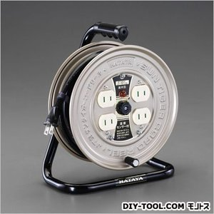 エスコ(esco) AC125V/15A/10mコードリール(温度センサー付) EA815BK-10A|diy-tool