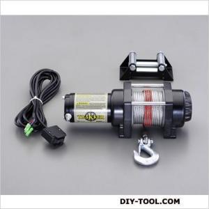 エスコ DC12V/1360kg直流電動ウィンチ  φ112×340(L)mm EA840DK-2