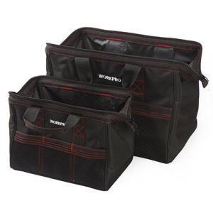 WORKPRO ツールバッグ  W003500AJ  2個セット 大きな口開きで工具や部品、資材が収...