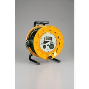 ハタヤ/HATAYA 三相200V型コードリール漏電遮断器付アース付電工ドラム・電工リール BR-302ML|diy-tool