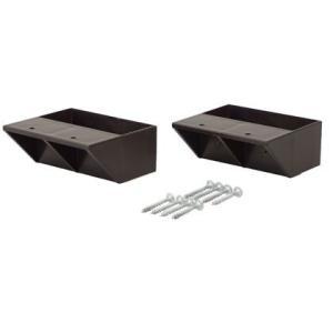 LABRICO(ラブリコ) 2×4材用棚受 シングル ブロンズ DXB-2 ツーバイフォー材 パーツ 2個入|diy-tool