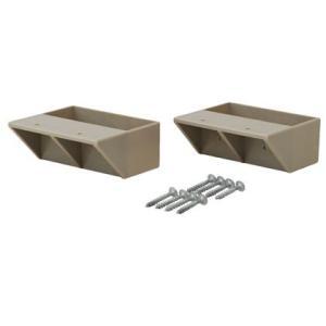 LABRICO(ラブリコ) 2×4材用棚受 シングル ナチュラルグレージュ(限定色) DXN-2 ツーバイフォー材 パーツ 2個入|diy-tool