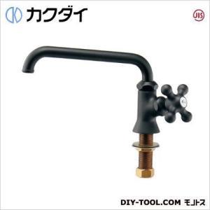 カクダイ(KAKUDAI) カラー立形自在水栓//マットブラック 700-716-13