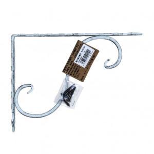 ケイジーワイ工業 鍛冶屋の棚受 白 20x15cm|diy-tool