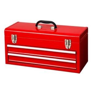 カインズ スチール工具箱2段 TBD132 工具箱 工具セット 道具箱 ツールボックス 工具ケース 工具収納 工具入れ スチール工具収納 ツール