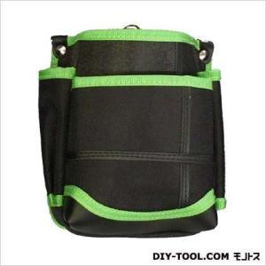 基陽 武尊魂2段腰袋 黒/緑 W150 H185 D90 TK02K-G