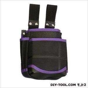 基陽 武尊魂2段腰袋自在ベルト通し 黒/紫 W150 H185 D90 (ベルト通し部95mm) T...