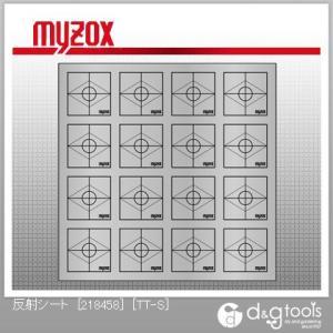 マイゾックス 反射シート[218458]47×47mm×16枚測量用ミニプリズム TT-S