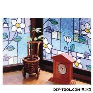 明和グラビア 窓飾りシート(ステンド調) パープル 46cm丈×90cm巻 GLS-4657|diy-tool