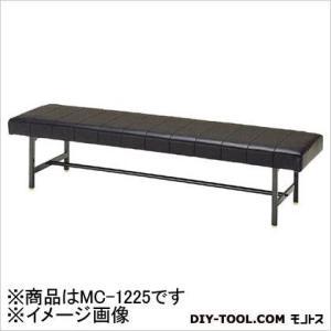 ミズノ ロビーチェア背無し黒 BK 180 x 1530 x 505 mm MC-1225|diy-tool|01