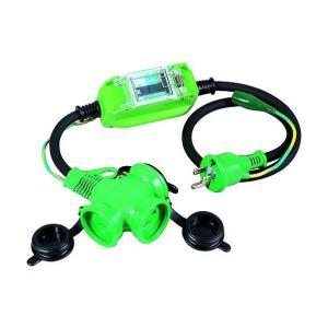 日動工業 防雨型ポッキン延長ブレーカ 100V 漏電しゃ断器付 1m (×1個)   PBWEBT|diy-tool