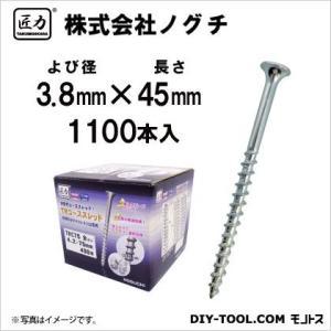 匠力 TRコーススレッド(全ネジ) ユニクロメッキ 3.8mm×45mm TRC45 1100本|diy-tool