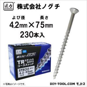 匠力 TR ステンコーススレッド フレキ (410)  半ネジ 4.2mm×75mm STRC75 230本|diy-tool