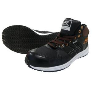日進ゴム ハイパーV#906MG(ミドルガード) ハイカット安全スニーカー(ヒモ) ブラック 作業靴 1足|diy-tool