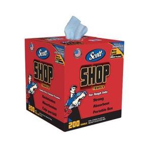 Scott ショップタオル ブルーBOX  200カット 65920|diy-tool