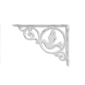 ポッシュリビング アイアンブラケット バード ホワイト 巾3.5×奥23.5×高17.5cm 62324|diy-tool