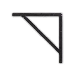 ポッシュリビング アイアンブラケット ブラック 巾1×奥12.5×高12.5cm 62790|diy-tool