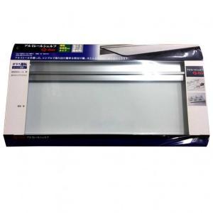 Q-ho レールシェルフ強化ガラス 棚板平面部寸法120×450mm T1521|diy-tool