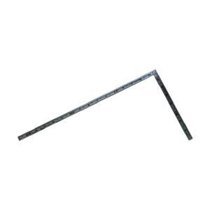 シンワ測定 曲尺同厚同目 名作 赤数字入(さしがね) シルバー 1尺5寸 10643 1