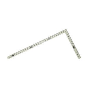 シンワ測定 曲尺小型ホワイトサンデーバーコードシール付(さしがね) 30×15cm 12476 1