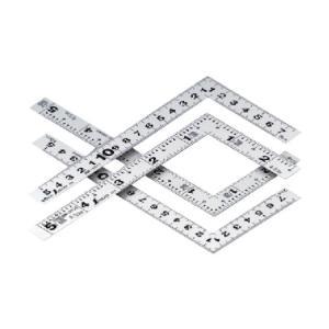 シンワ測定 曲尺平ぴた5寸裏面15cm併用目盛(さしがね) シルバー 10038 1