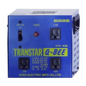スズキッド ポータブル変圧器(昇圧機能付き) トランスターQ-BEE(トランスターキュービー) 青  STX-3QB|diy-tool
