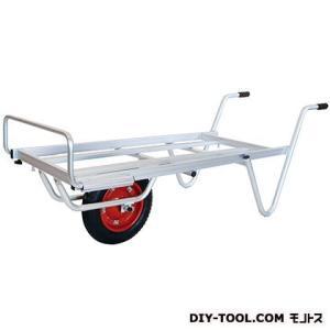 シシク 農業・園芸用運搬台車一輪Mタイプ(アルミロング台車)  荷台サイズ:530×1110mm TC-1012|diy-tool