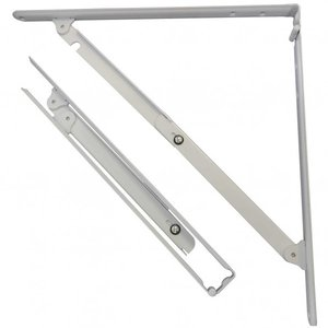 TANNER 折りたたみ棚受 40cm用 セット 白色 大 400(大) 2本|diy-tool