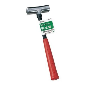 M&M カラーグリップ丸玄能 H250×W77×D25 mm|diy-tool