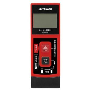 TAKAGI レーザー距離計 20m  単品サイズ(W)×(H)×(D)mm:1 LDM-20R|diy-tool