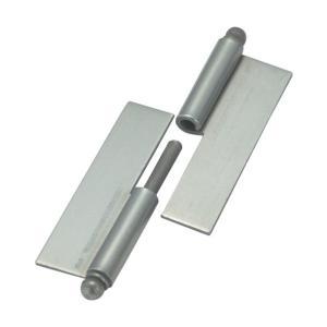 トラスコ(TRUSCO) スチール製抜き差し蝶番穴ナシ右用(1組(袋)=2個入) 97 x 81 x 9 mm 2個|diy-tool