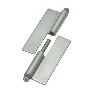 トラスコ(TRUSCO) スチール製抜き差し蝶番穴ナシ左用(1組(袋)=2個入) 97 x 80 x 15 mm 2個|diy-tool