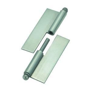 トラスコ(TRUSCO) スチール製抜き差し蝶番穴ナシ左用(1組(袋)=2個入) 81 x 78 x 12 mm 225W5040L 2個 diy-tool