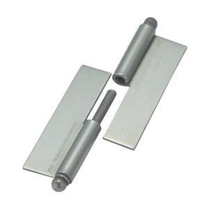 トラスコ(TRUSCO) スチール製抜き差し蝶番穴ナシ右用(1組(袋)=2個入) 82 x 81 x 7 mm 2個|diy-tool