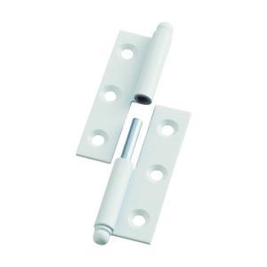 トラスコ(TRUSCO) スチール製抜き差し蝶番左用(1組(袋)=2個入) 101 x 80 x 19 mm 2257043L 2個 diy-tool