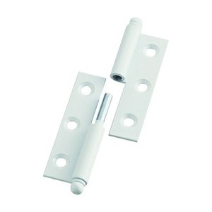 トラスコ(TRUSCO) スチール製抜き差し蝶番右用(1組(袋)=2個入) 85 x 75 x 10 mm 2個|diy-tool