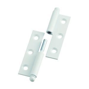 トラスコ(TRUSCO) スチール製抜き差し蝶番右用(1組(袋)=2個入) 80 x 84 x 11 mm 2255040R 2個 diy-tool