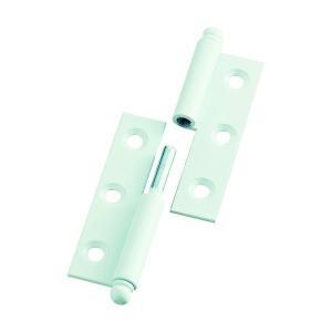 トラスコ(TRUSCO) スチール製抜き差し蝶番右用(1組(袋)=2個入) 80 x 82 x 17 mm 2個|diy-tool