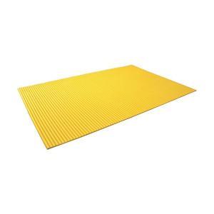 トラスコ 波型クッション 1200X1800 黄  TNC1218Y|diy-tool