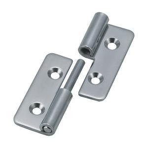 トラスコ(TRUSCO) ステンレス製抜き差し蝶番右用全長40mm 40 x 36 x 7 mm TNH-40CR 1個 diy-tool