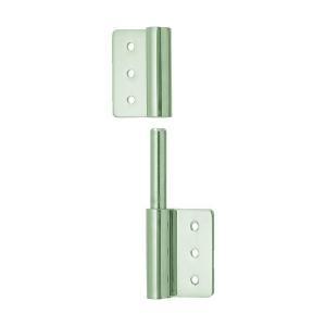 トラスコ(TRUSCO) ステンレス製抜き差し旗蝶番左用全長50mm 108 x 61 x 15 mm TLS-100LX 1個 diy-tool