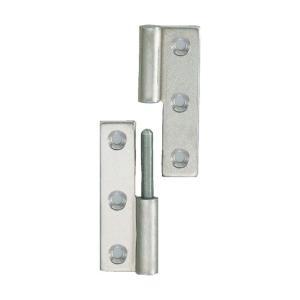 トラスコ(TRUSCO) ステンレス製抜き差し蝶番右用全長75mm 77 x 32 x 9 mm TKN-75CR 1個 diy-tool
