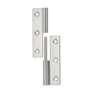 トラスコ(TRUSCO) ステンレス製抜き差し蝶番左用全長75mm 75 x 31 x 9 mm TKN-75CL 1個 diy-tool