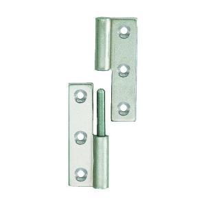 トラスコ(TRUSCO) ステンレス製抜き差し蝶番右用全長64mm 76 x 29 x 12 mm TKN-64CR 1個 diy-tool