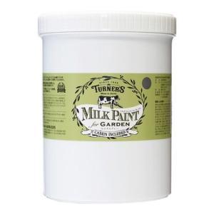 ターナー色彩 【新商品】 ミルクペイントforガーデン モルタルグレー 1.2L MKG12331 ペンキ アンティーク|diy-tool