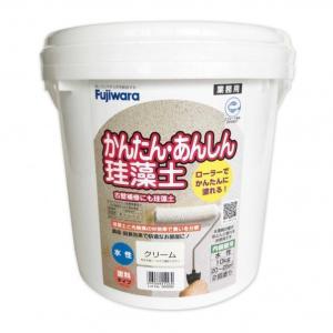 フジワラ化学 ローラーで塗れるかんたんあんしん珪藻土6坪用 クリーム  10KG 6220300|diy-tool