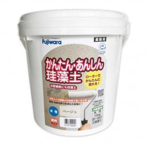 フジワラ化学 ローラーで塗れるかんたんあんしん珪藻土6坪用 ベージュ  10KG 6220400|diy-tool
