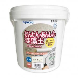 フジワラ化学 ローラーで塗れるかんたんあんしん珪藻土6坪用 アイボリー  10KG 6220500|diy-tool