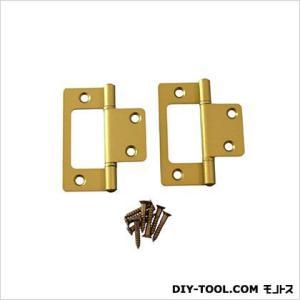 フラッシュ蝶番 GC色 64mm 17443 1袋(2枚)|diy-tool